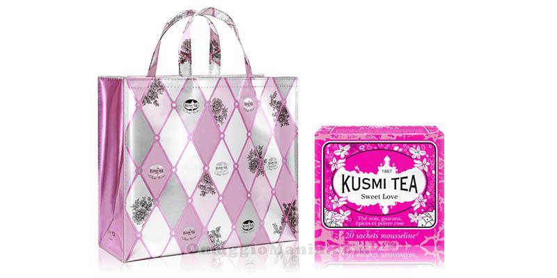 shopping bag Kusmi Tea Chantal Thomass e confezione Sweet Love