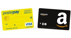 10€ Amazon omaggio con PostePay o VISA