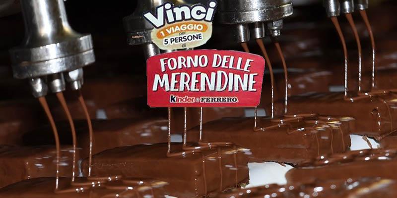 Concorso Kinder e Ferrero Vinci viaggio al forno delle merendine
