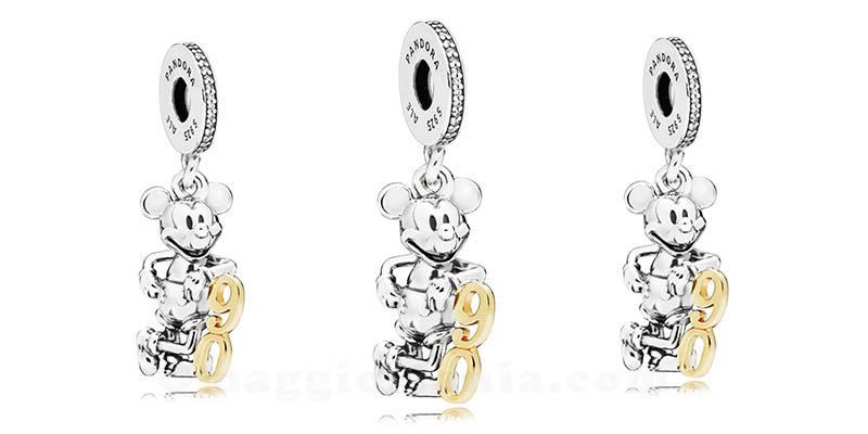 charm Pandora 90° anniversario Mickey Mouse