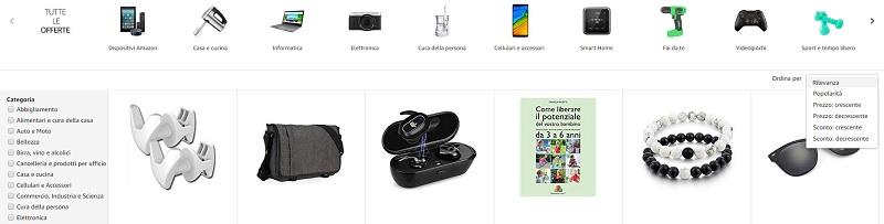 filtri offerte Amazon Black Friday 2018