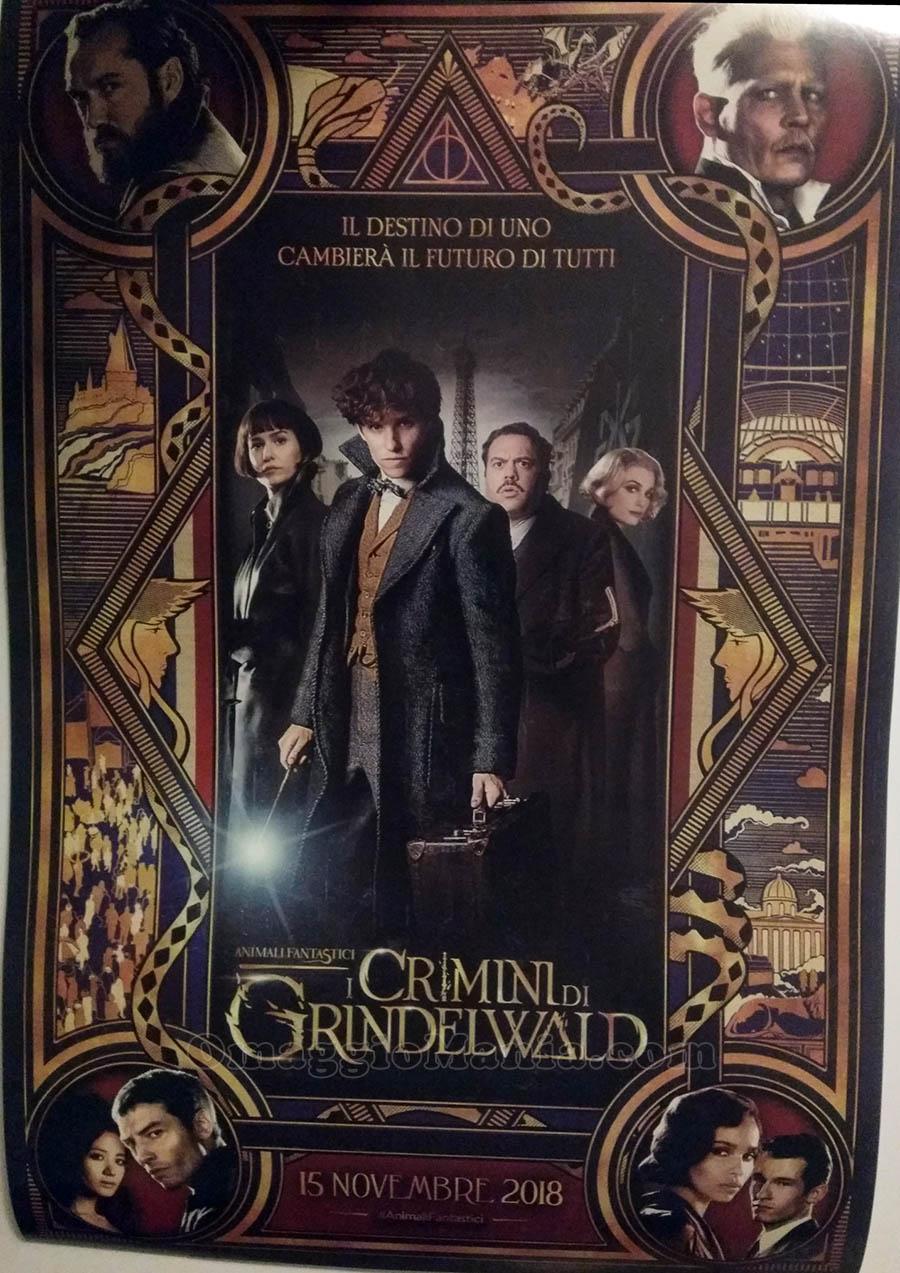 locandina Animali Fantastici I Crimini di Grindelwald omaggio di Stefano