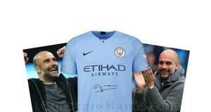 maglietta Manchester City firmata da Pep Guardiola