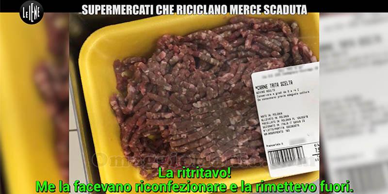 servizio Le Iene Supermercati che riciclano merce scaduta