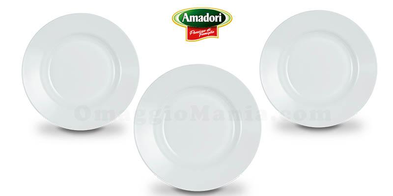 set piatti fondi omaggio da Amadori