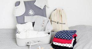 valigia parto Envie de Fraise e Petit Bateau