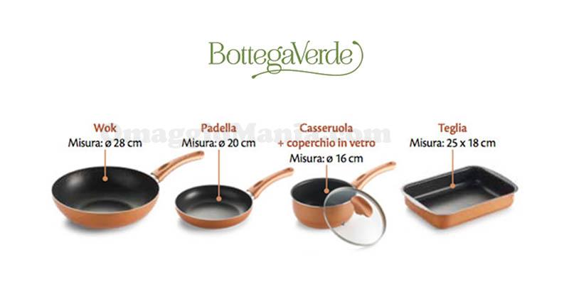 visita premiata Bottega Verde set pentole Ravelli