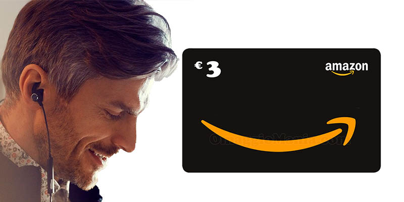 buono Amazon 3 euro con Prime Music