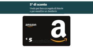 buono sconto Amazon 5 euro Natale 2018