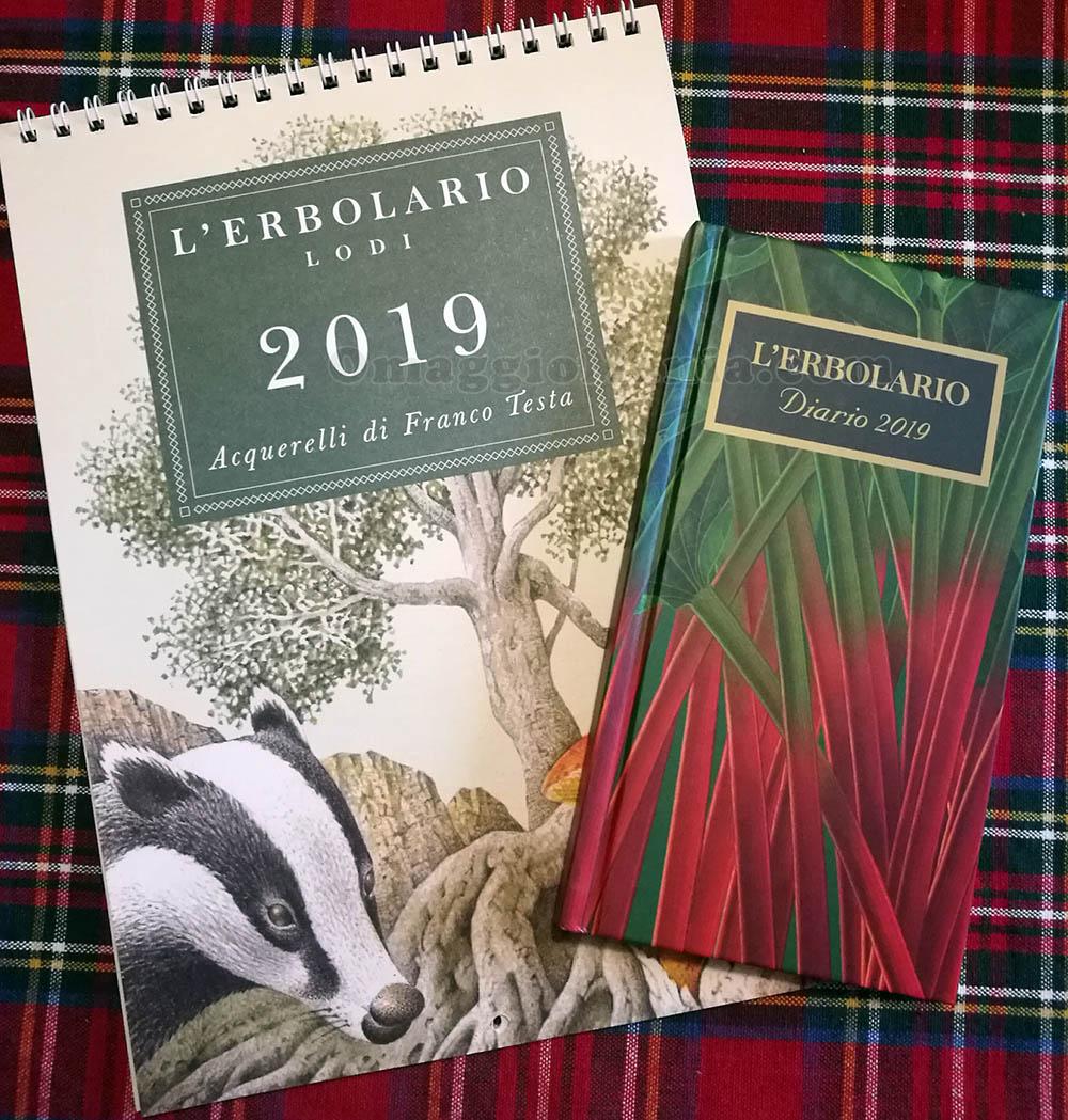 calendario 2019 e agenda 2019 L'Erbolario di Sole