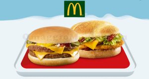 double cheeseburger o double chicken McDonald's 1,50€