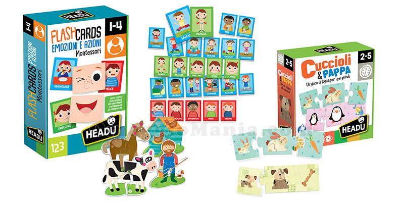 kit giochi Montessori Headu