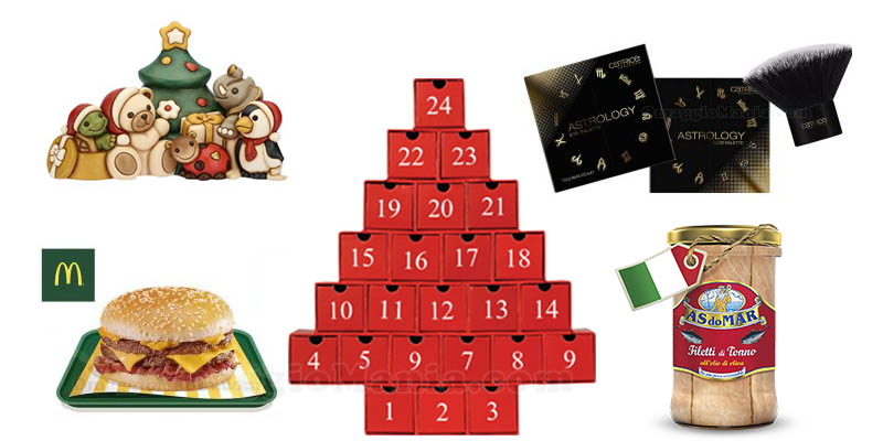 lista calendari Avvento Natale 2018