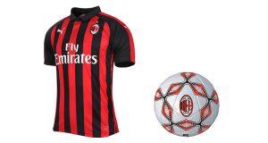 maglietta Milan 2018-2019 e pallone