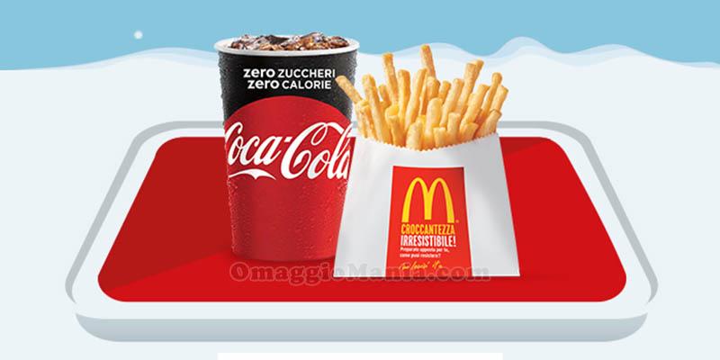 patatine e Coca Cola a 1,50 euro