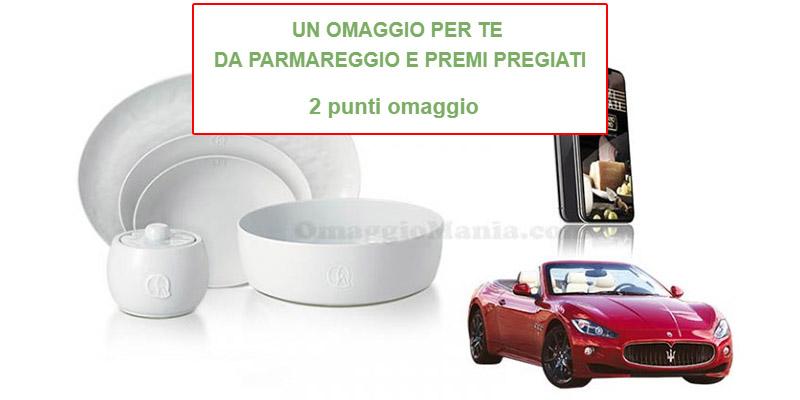 2 punti omaggio raccolta punti Premi Pregiati Parmigiano Reggiano