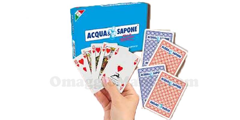carte da gioco Acqua e Sapone omaggio
