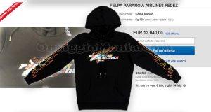 felpa paranoia airlines Fedez su eBay