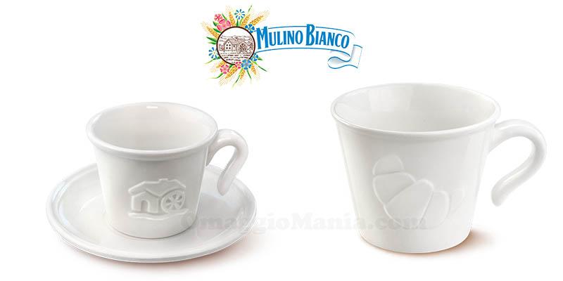 tazzina con piattino e tazza collezione 2019 Mulino Bianco