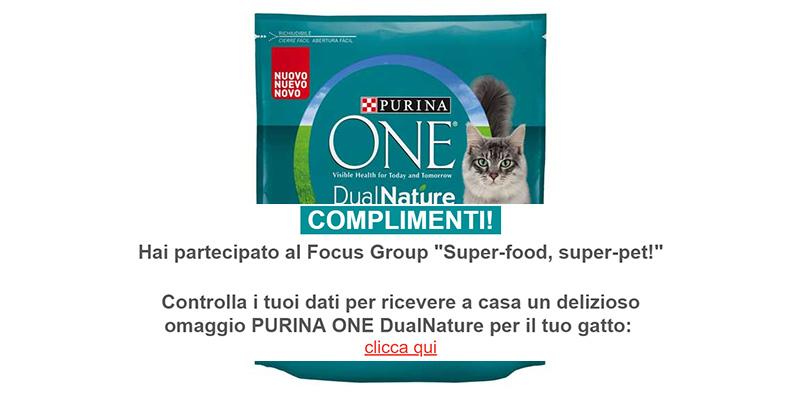 campione omaggio Purina One DualNature conferma