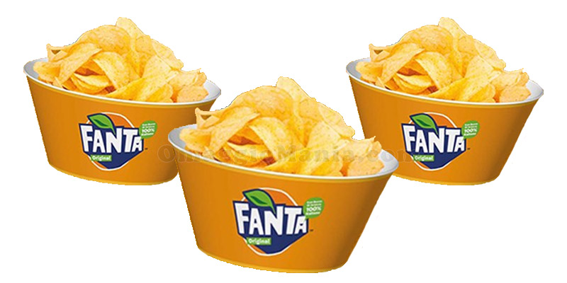 contenitori per snack Fanta