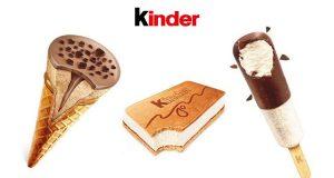 gelati Kinder in Italia a fine febbraio