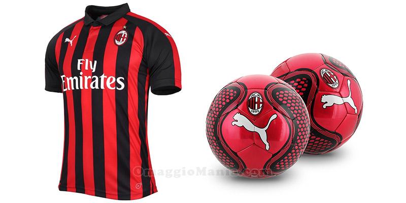 maglietta e palloni AC Milan