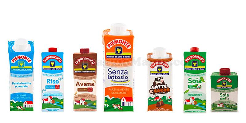 prodotti Tapporosso Centrale del Latte Torino