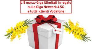 regalo Vodafone Festa Donna 2019