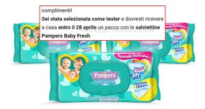 selezione tester salviettine Pampers Baby Fresh