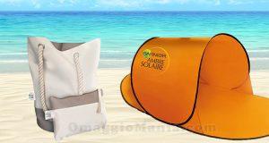 tenda e kit borsa mare e pochette Garnier Ambre Solaire