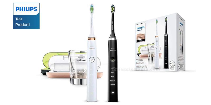 tester spazzolino elettrico Philips Sonicare Diamond Clean