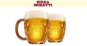 In omaggio due boccali Birra Moretti