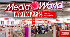 MediaWorld weekend no IVA 22-23 giugno 2019