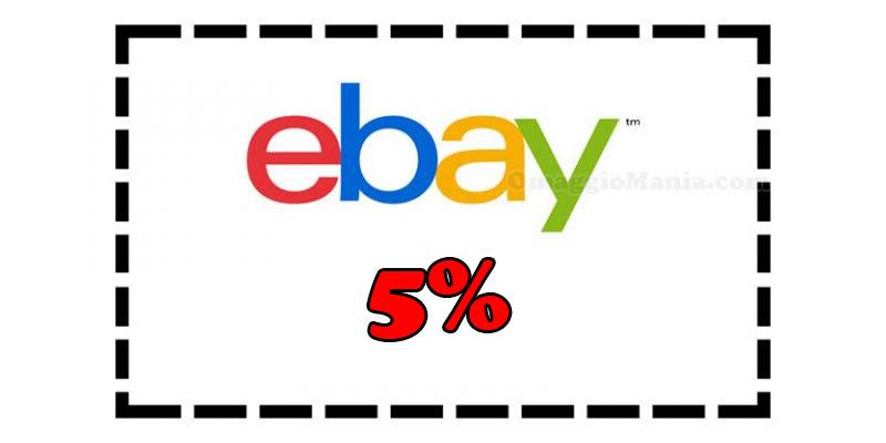 buono sconto eBay 5%