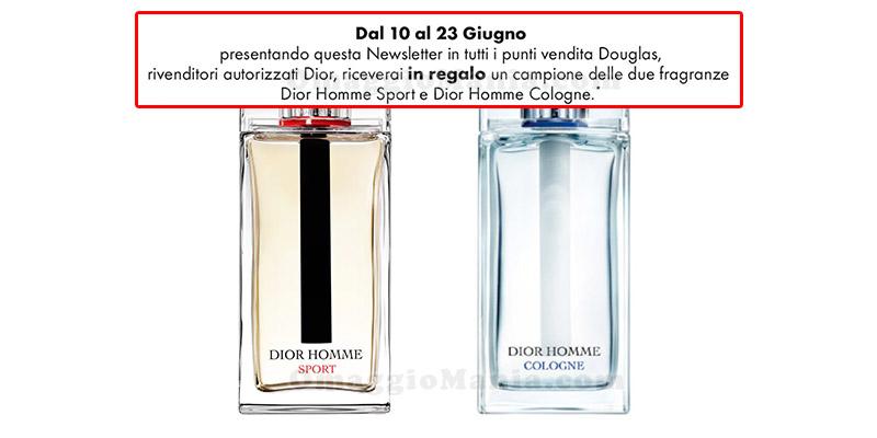 campioni omaggio Dior Homme Sport e Dior Homme Cologne
