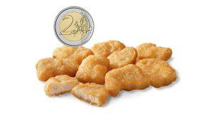 chicken mcnuggets 2 euro McDonald's