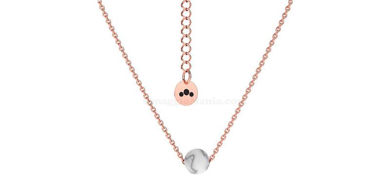 collana Posidonia in oro rosa Granelloso