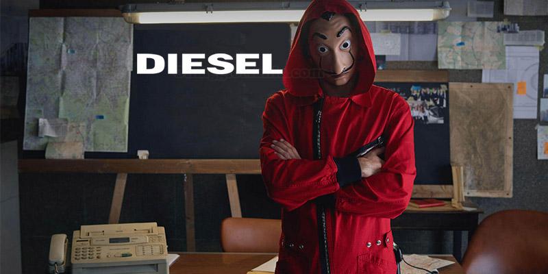 tuta Diesel La Casa di Carta Netflix
