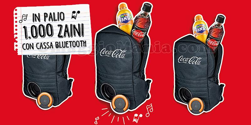 concorso Con Coca‑Cola puoi vincere uno zaino a marchio Coca‑Cola con cassa bluetooth!