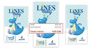 confezione omaggio pannolini Lines Baby Amazon