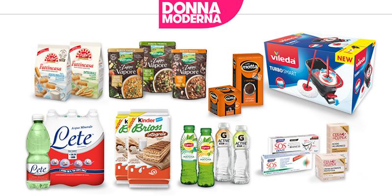 sale retailer 511d2 432dc Vinci gratis 100 kit grandi marche con Donna Moderna ...