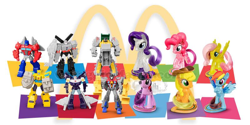personaggi My Little Pony e Transformers con Happy Meal McDonald's