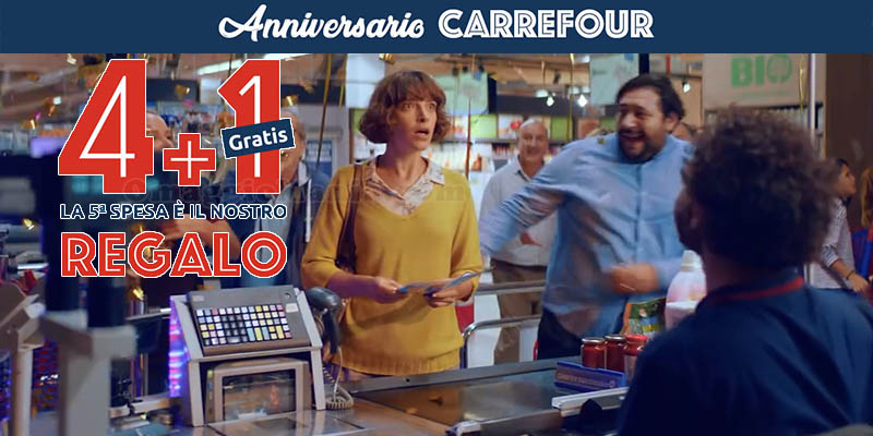 spesa gratis anniversario Carrefour 2019