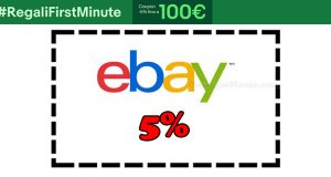 buono sconto eBay 5% regalifirstminute