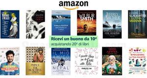 Amazon 10euro acquistando 20 euro di libri