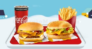 McDonald's Winterdays 2019 McMenu Large Double Cheeseburger o Double Chicken BBQ