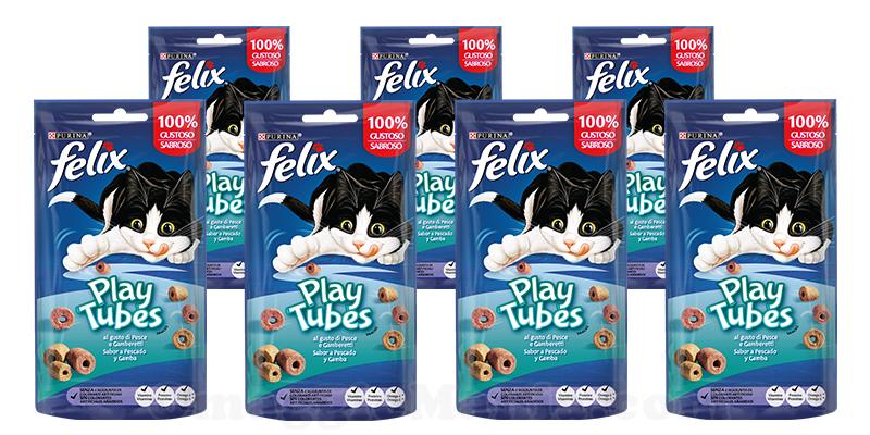 fornitura Purina Felix PlayTubes Pesce e Gamberetti