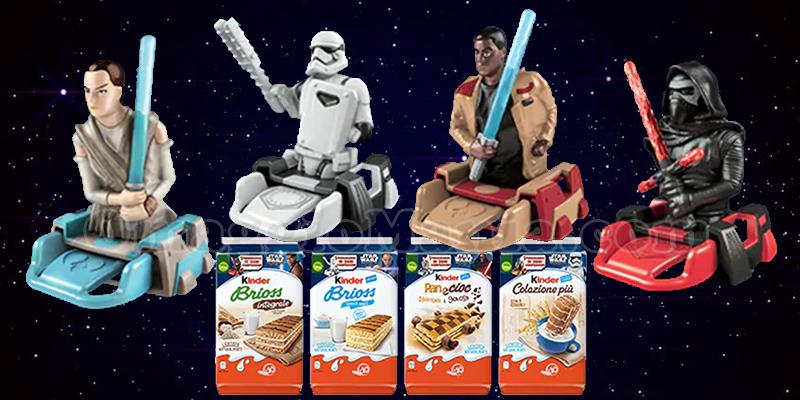 personaggi 3D Star Wars con Kinder