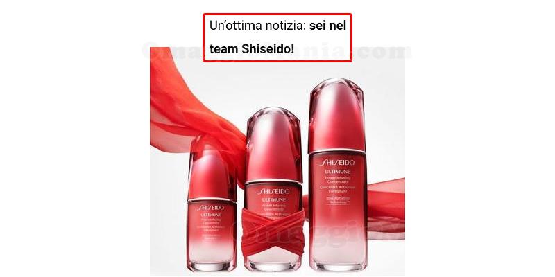 tester Shiseido con TRND